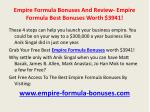 empire formula bonuses and review empire formula best bonuses worth 39416