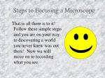 steps to focusing a microscope11