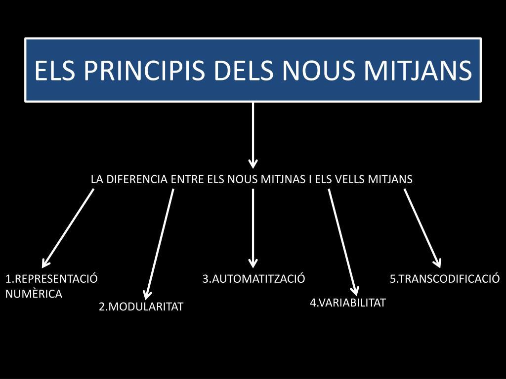 ELS PRINCIPIS DELS NOUS MITJANS
