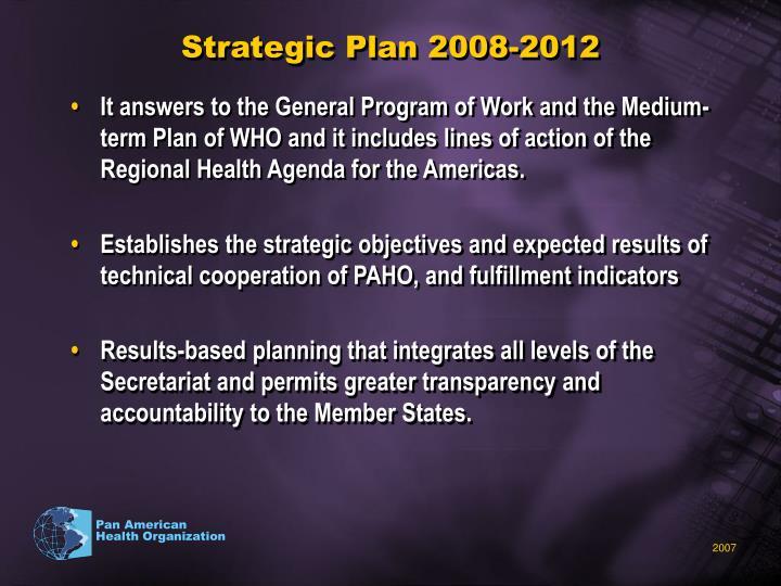 Strategic Plan 2008-2012