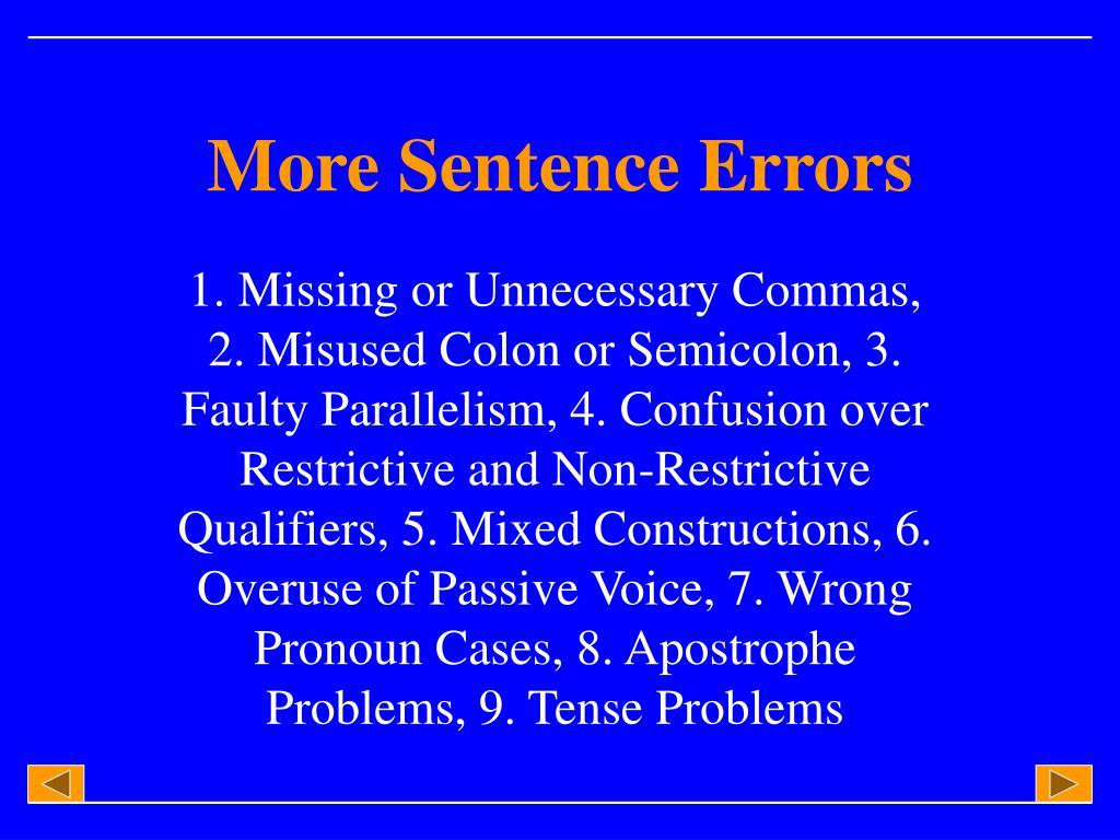 more sentence errors l.