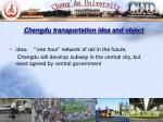 chengdu transportation idea and object