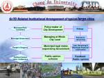 sctd related institutional arrangement of typical large cities