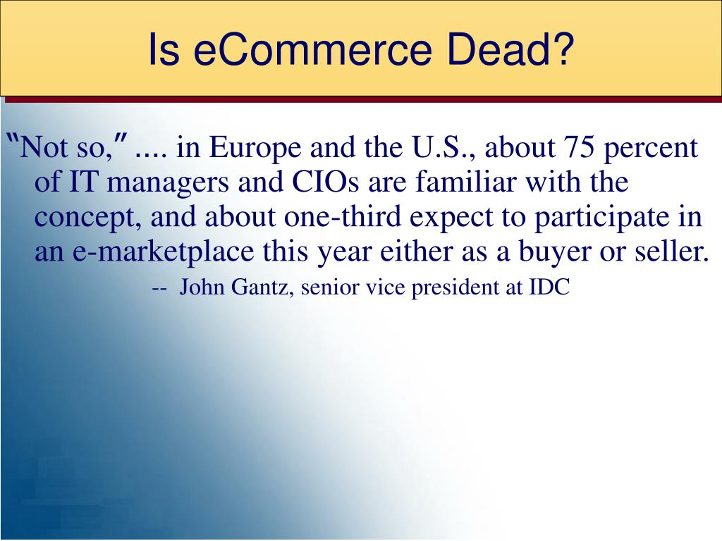 Is eCommerce Dead?