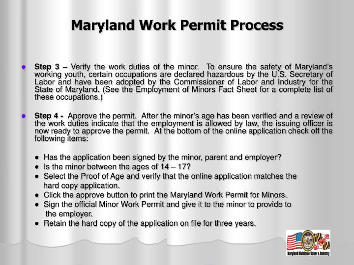 how to obtain a work permit for a minor
