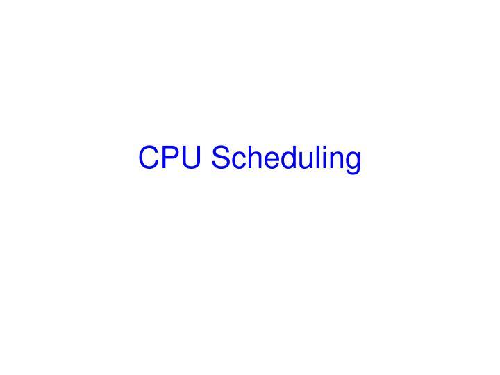 cpu scheduling n.