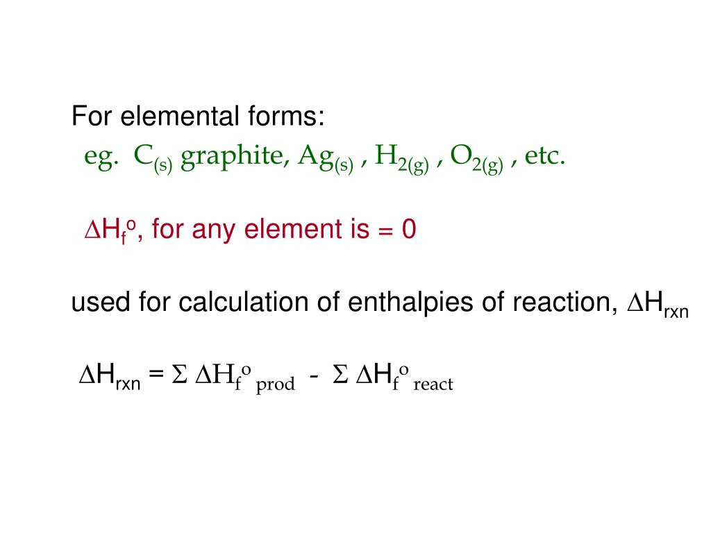 For elemental forms: