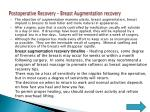 postoperative recovery breast augmentation recovery