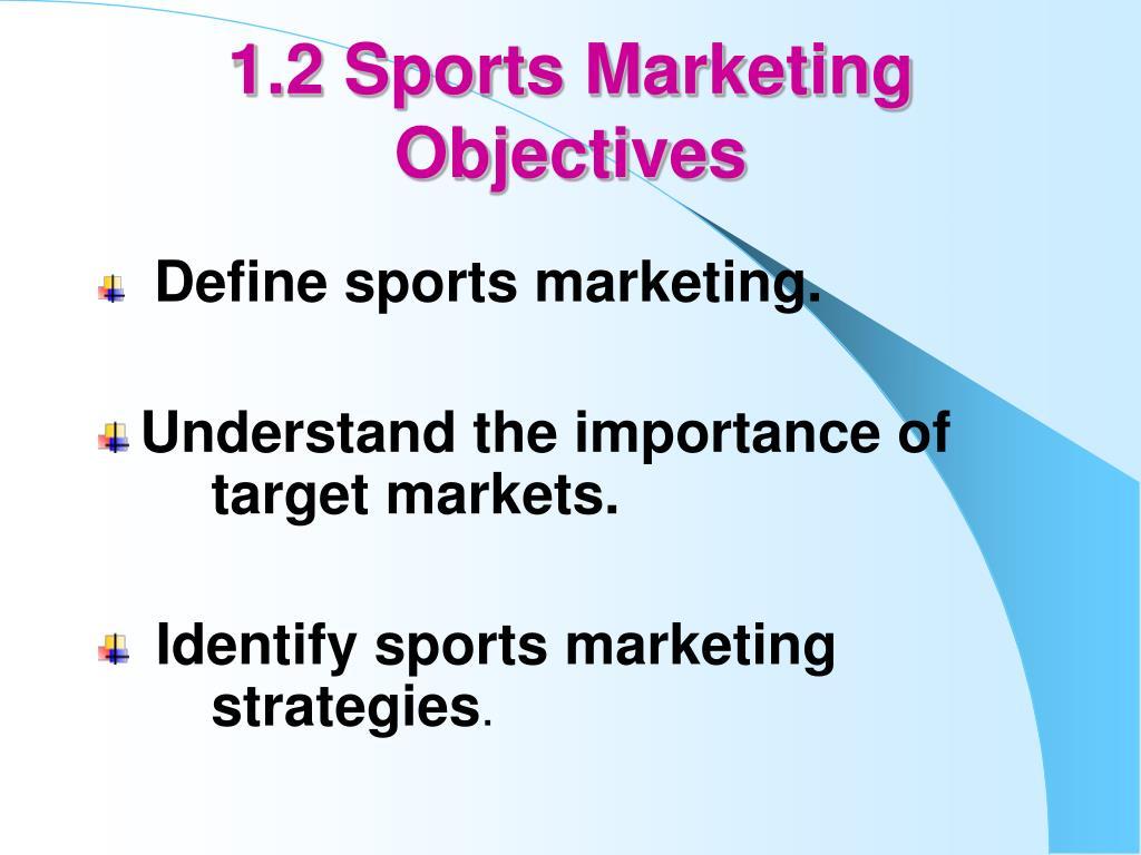 1.2 Sports Marketing
