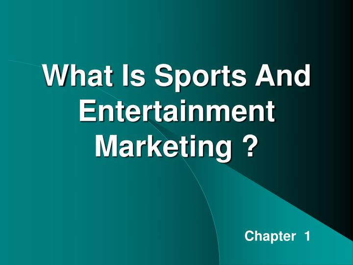 what is sports and entertainment marketing n.