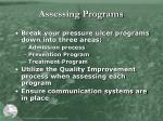 assessing programs