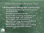 other prevention program tips1