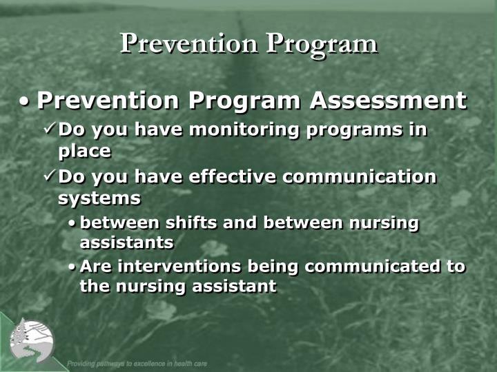 Prevention Program
