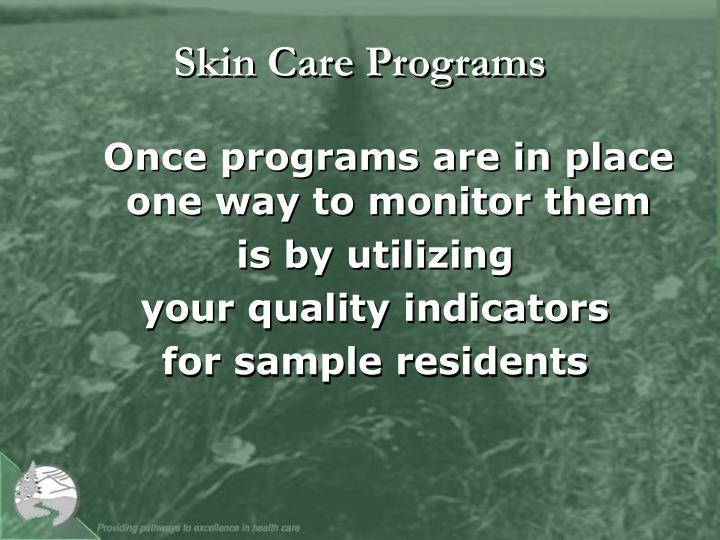 Skin Care Programs