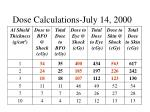 dose calculations july 14 2000
