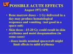 possible acute effects august 1972 spe