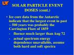 solar particle event doses cont