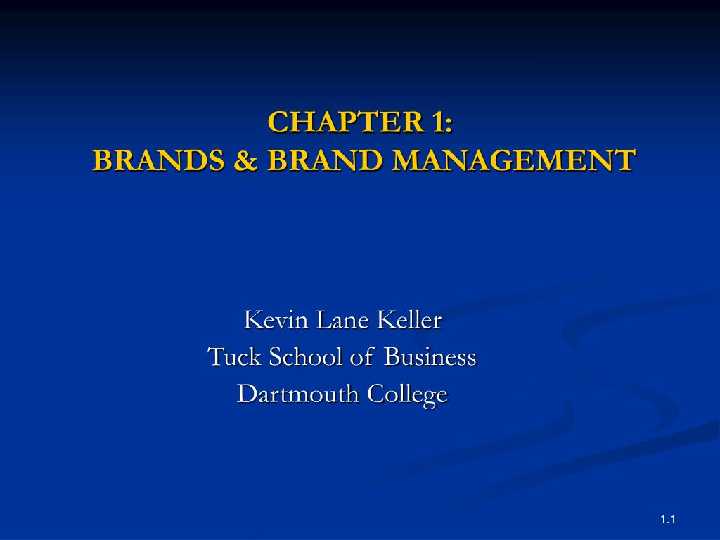 Ppt Chapter 1 Brands Brand Management Powerpoint Presentation Id 305380