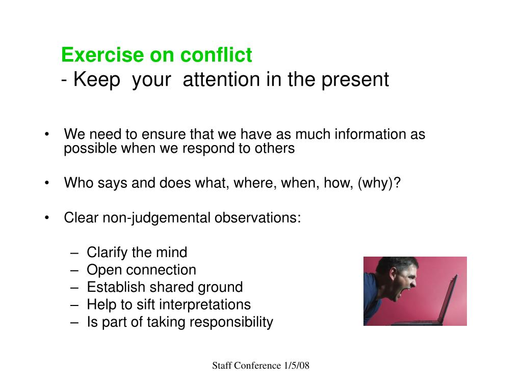Exercise on conflict