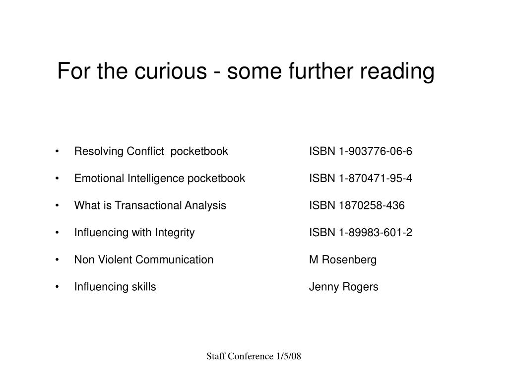For the curious - some further reading