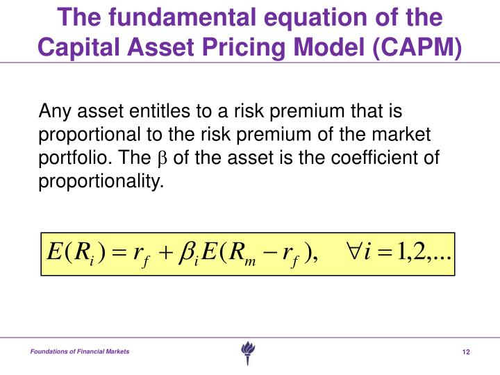capital asset pricing model capm vs arbitrage pricing There are inherent risks in holding any asset, and the capital asset pricing model (capm) and the arbitrage pricing model (apm) are both ways of calculating the cost of an asset and the rate of return which can be expected based on the risk level inherent in the asset (krause, 2001.