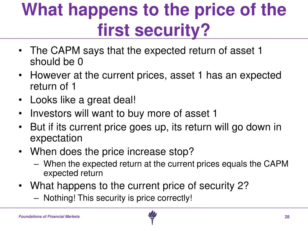 capital asset pricing model and arbitrage