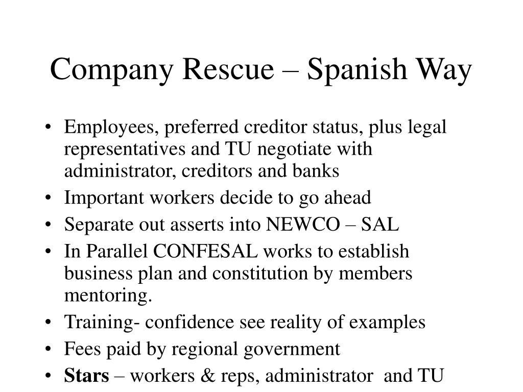 Company Rescue – Spanish Way