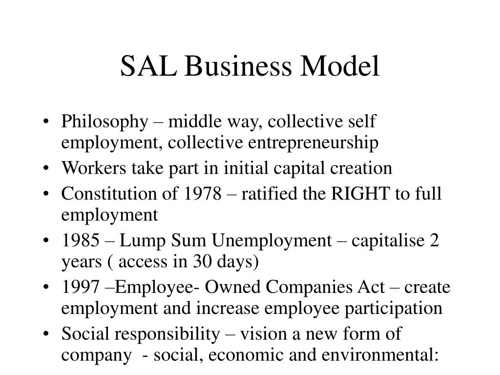 SAL Business Model