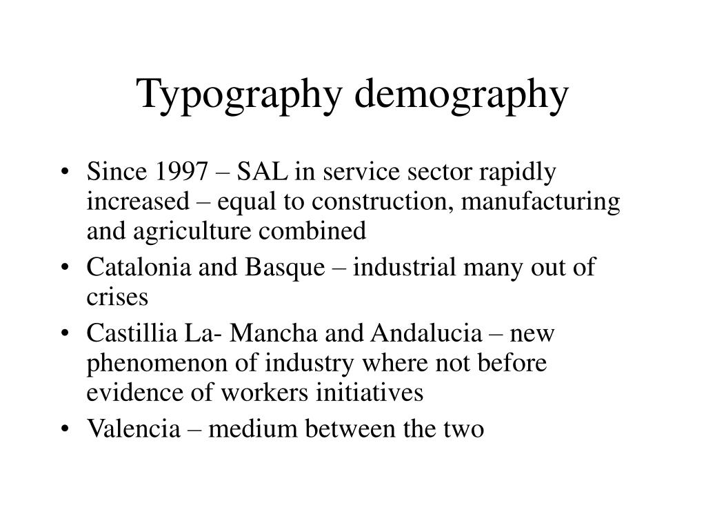 Typography demography