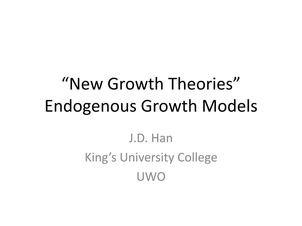 endogenous growth theory Theories of economic growth: old and new heinz d kurz and neri salvadori the structure of growth models: a comparative survey antonio d'agata and giuseppe freni endogenous growth theory as a lakatosian case study mario pomini endogenous growth in a multi-sector economy giuseppe freni, fausto gozzi and neri salvadori income distribution and.