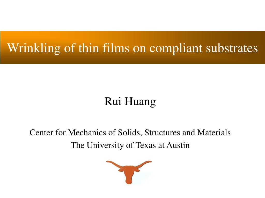 wrinkling of thin films on compliant substrates l.
