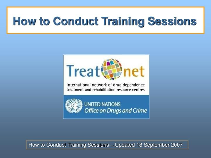 how to conduct training sessions n.