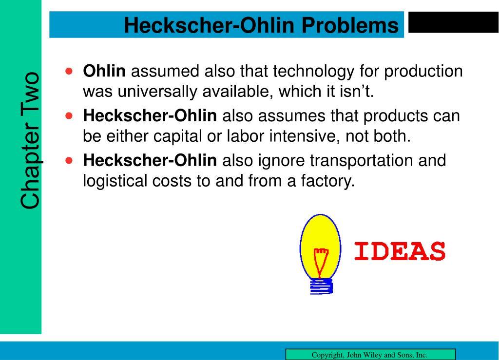Heckscher-Ohlin Problems
