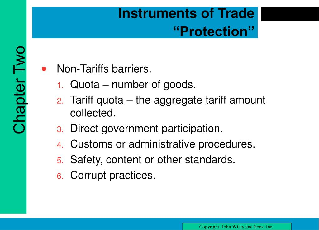 """Instruments of Trade """"Protection"""""""