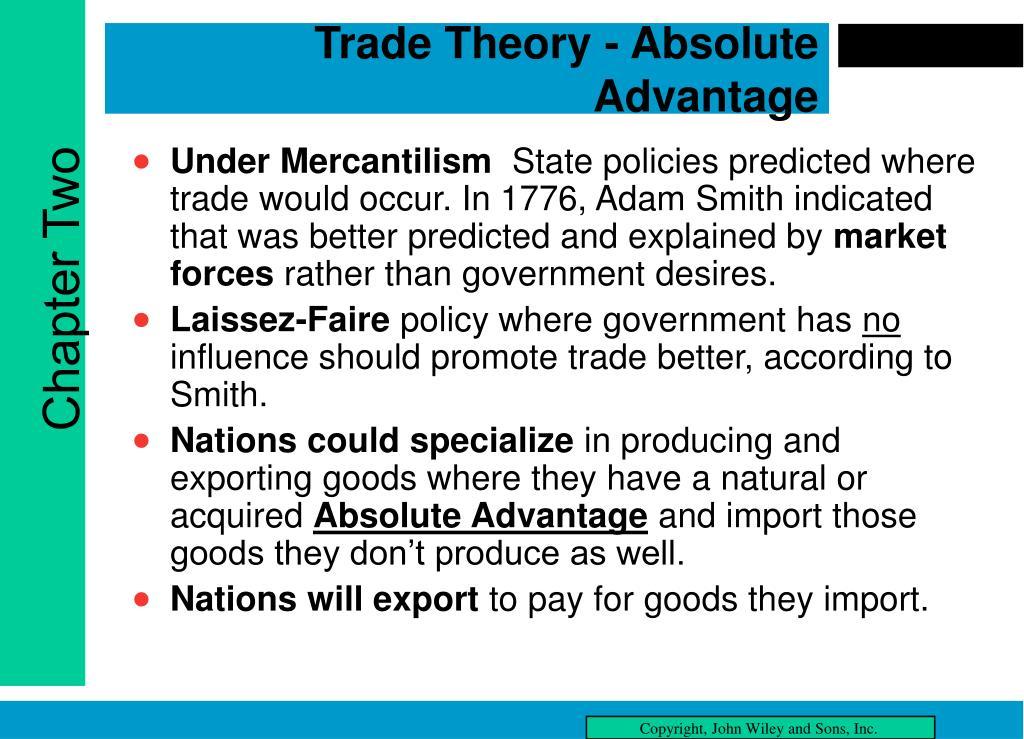 Trade Theory - Absolute Advantage