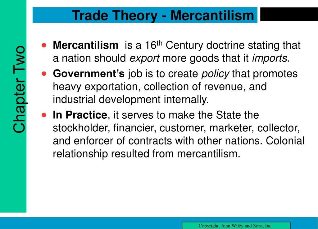 Trade Theory - Mercantilism