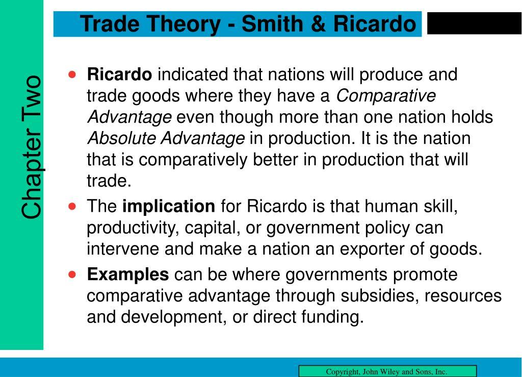 Trade Theory - Smith & Ricardo
