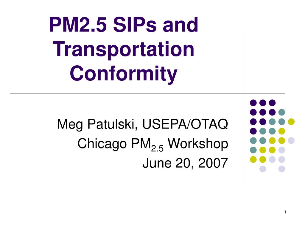 pm2 5 sips and transportation conformity l.
