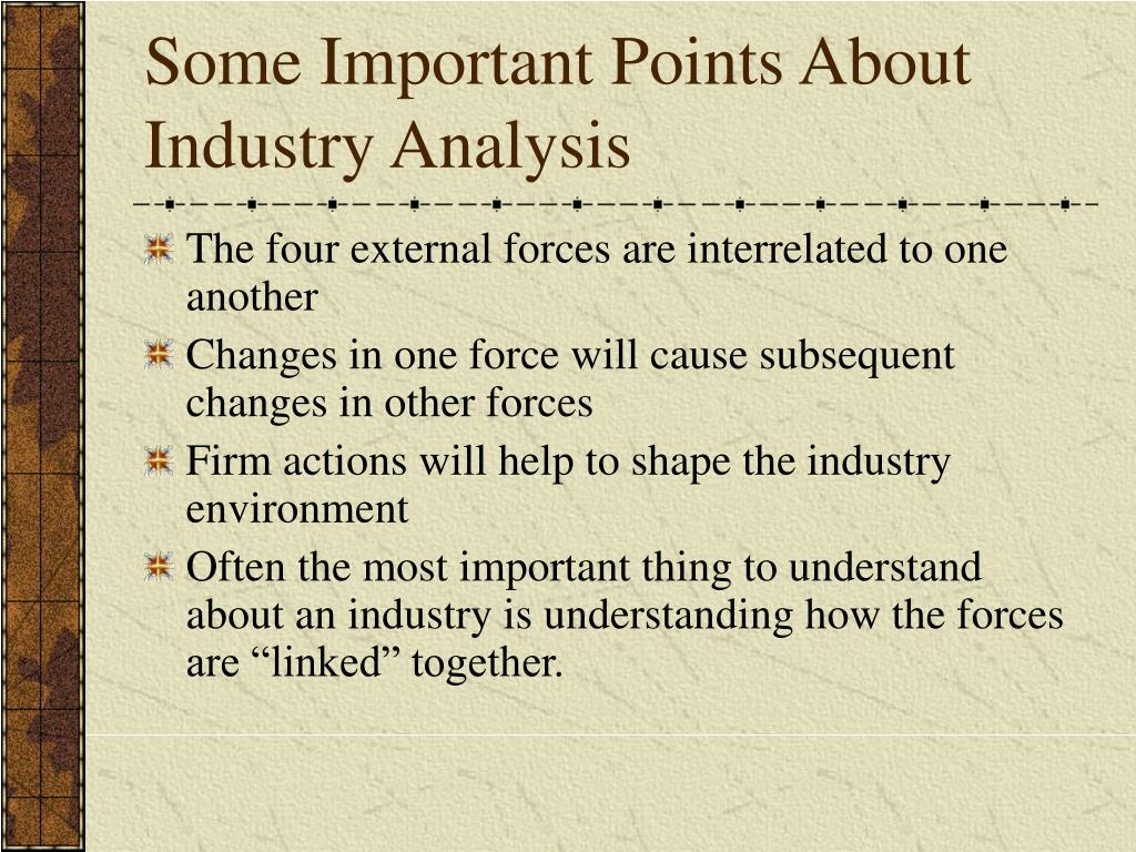 Some Important Points About Industry Analysis
