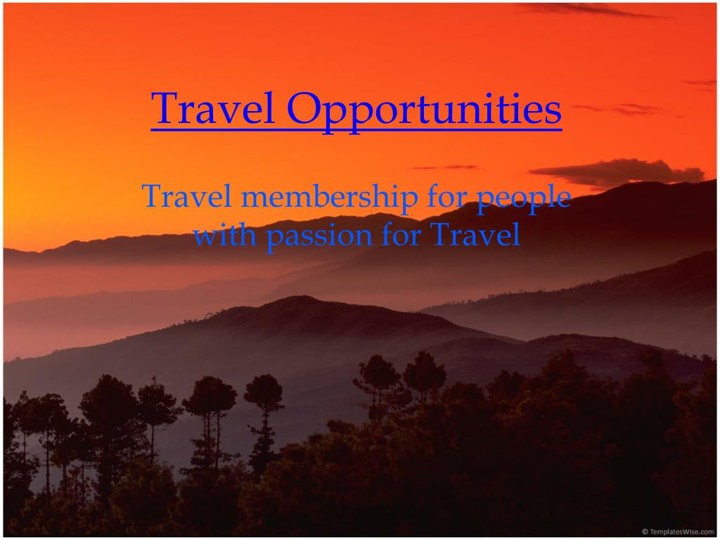 travel opportunities l.