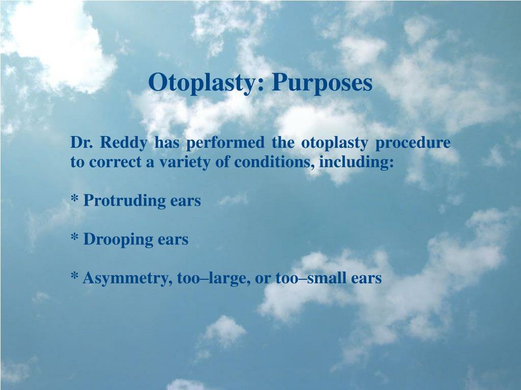 Otoplasty: Purposes