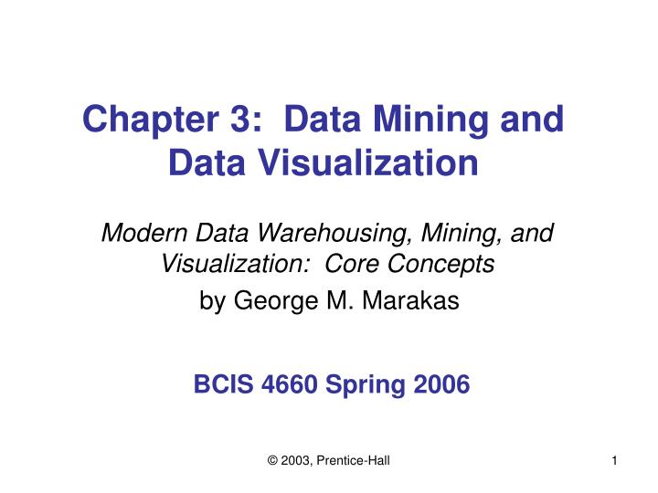 chapter 3 data mining and data visualization n.