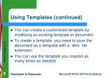 using templates continued7