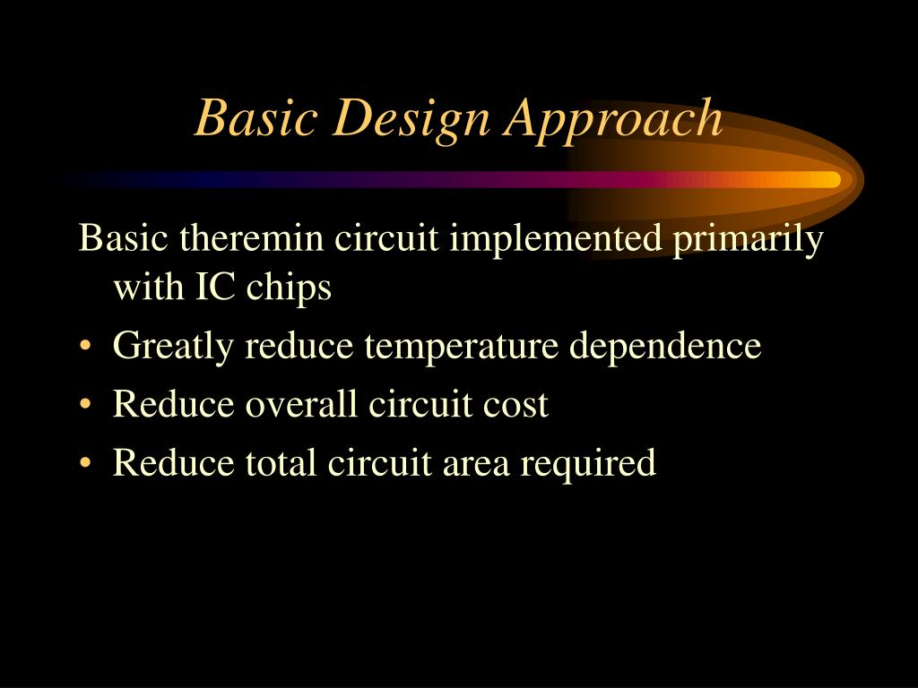 Basic Design Approach