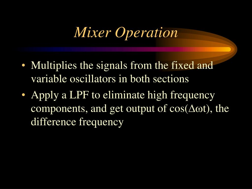 Mixer Operation