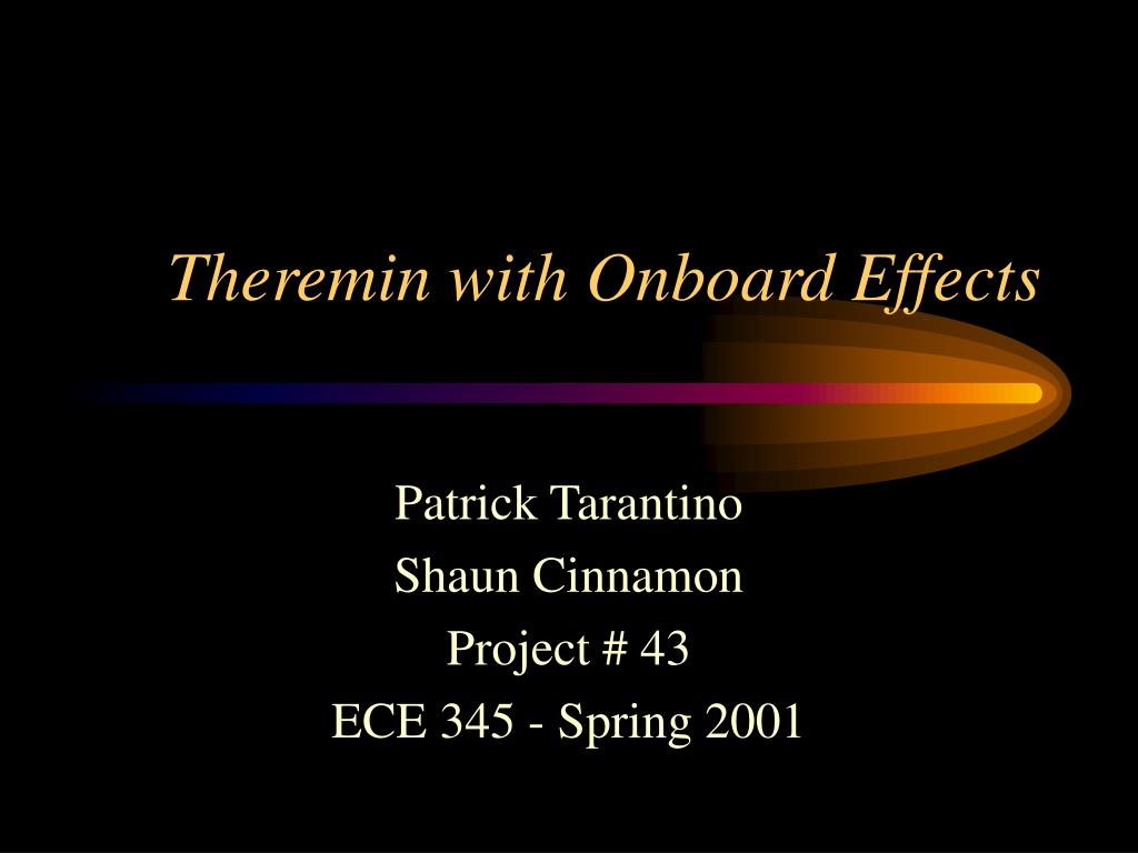 Theremin with Onboard Effects