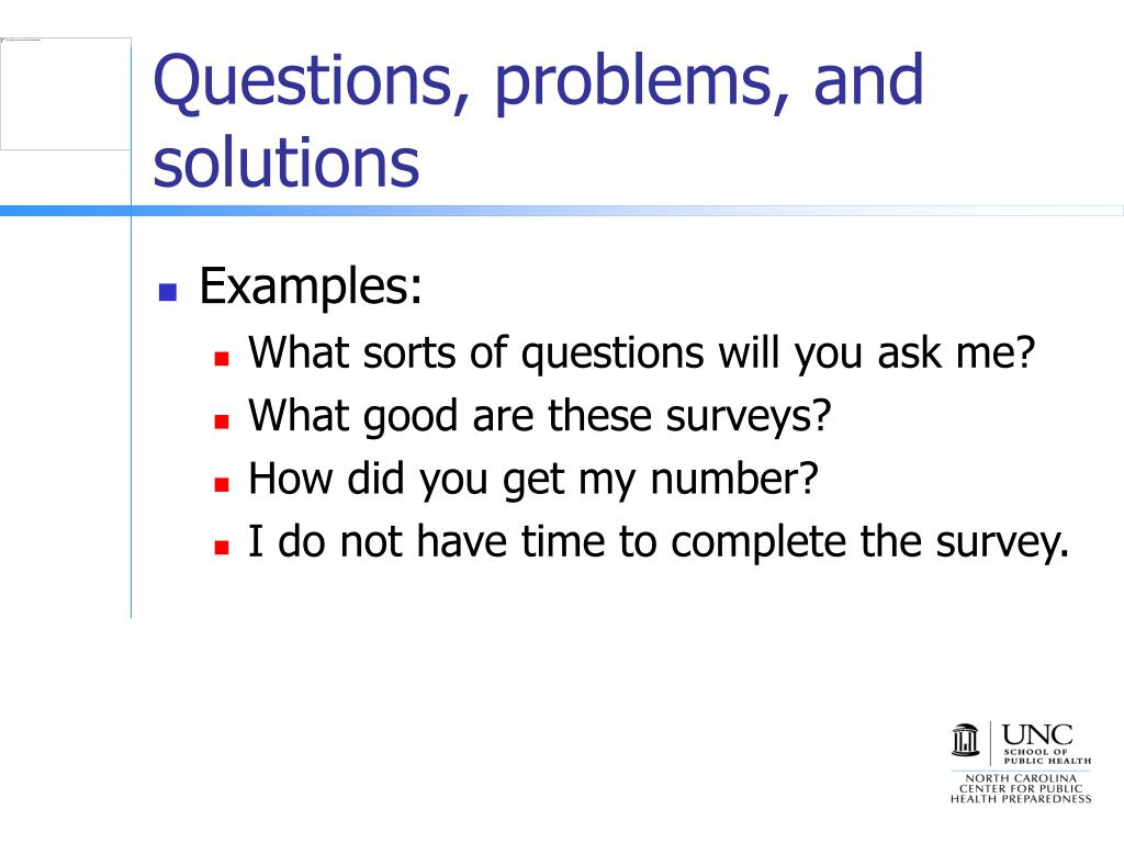 Questions, problems, and solutions