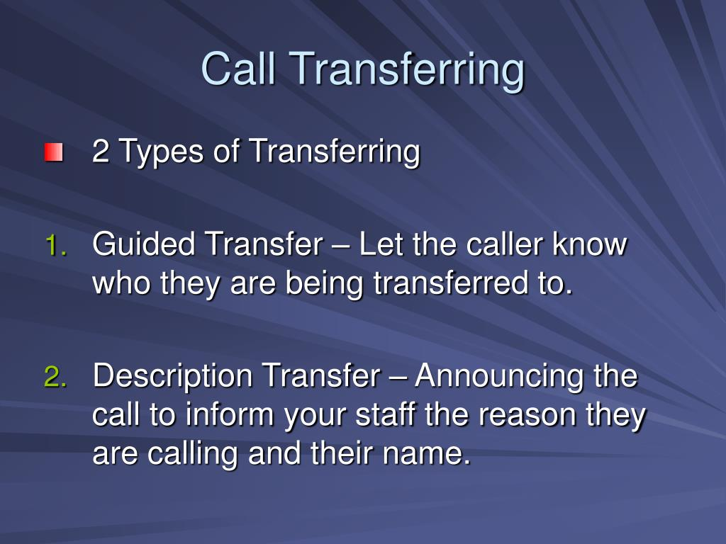 Call Transferring
