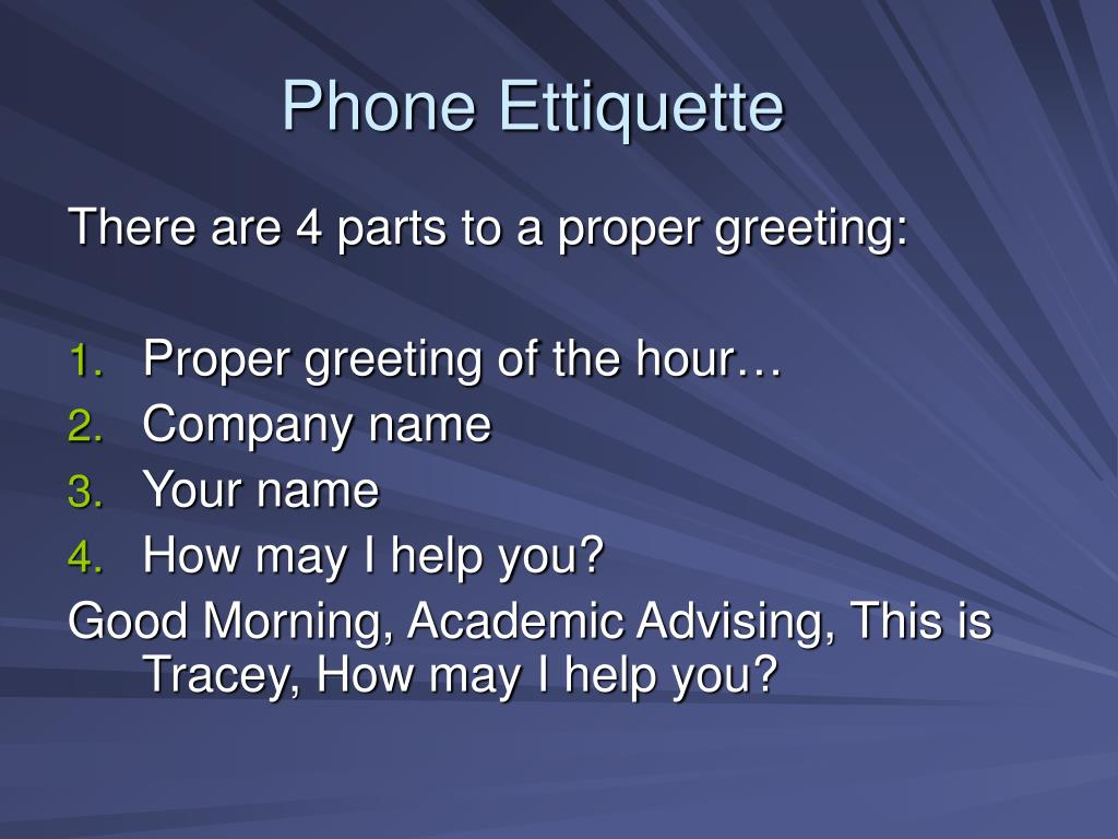 Phone Ettiquette
