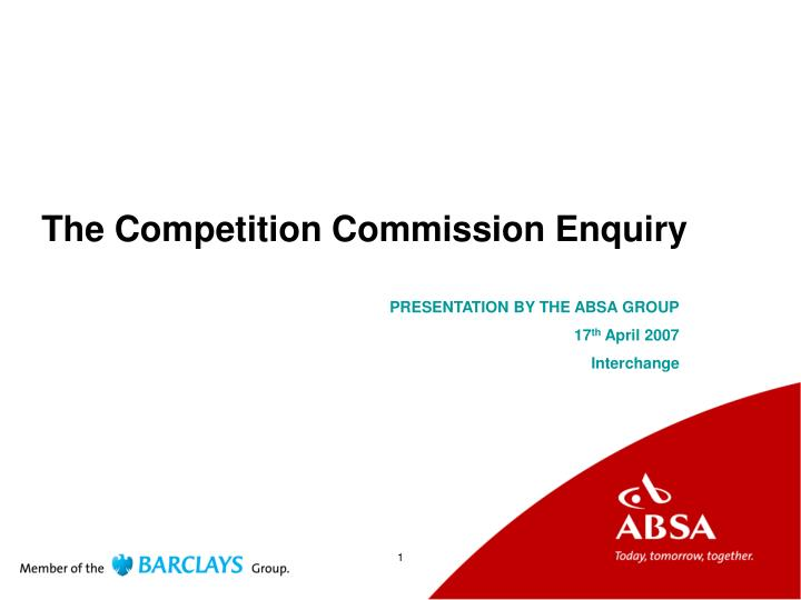 the competition commission enquiry n.